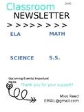 Classroom Newsletter - EDITABLE