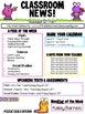 Classroom Newsletter- EDITABLE- Monster