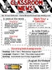 Classroom Newsletter- EDITABLE- Nautical (Black, White and Red)