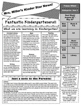 Classroom Newsletter (Editable)