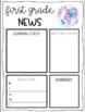 Classroom Newsletter Editable Template