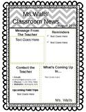 Classroom Newsletter- Editable Template