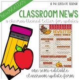 Classroom Newsletter - Fall Theme