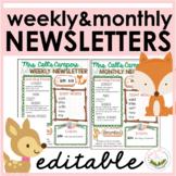 Woodland Classroom Newsletter - FREE