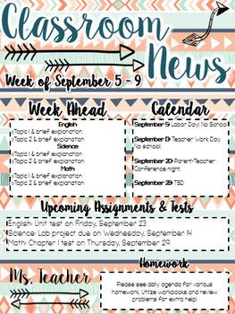 Classroom Newsletter {Growing} Bundle