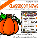 Classroom Newsletter - Halloween Theme