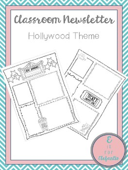 Classroom Newsletter Hollywood Theme
