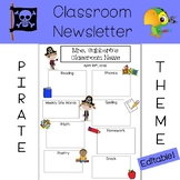 Classroom Newsletter - Pirate Theme