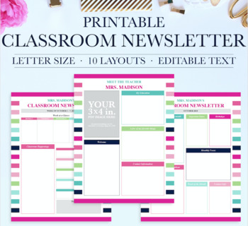 Classroom Newsletter School Newsletter Template Classroom Printables