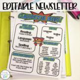 Classroom Newsletter- Superhero Themed- EDITABLE