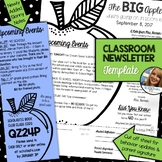 Classroom Newsletter Template - EDITABLE - Apple Theme