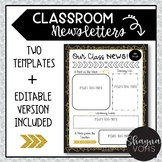 Classroom Newsletter Templates- Editable (3 Included)