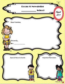 Classroom Newsletter Template - English & Spanish