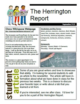 Classroom Newsletter Template Using Microsoft Publisher