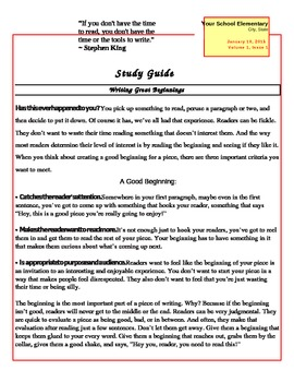 Classroom Newsletter Template for All Grades