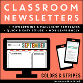 Digital Newsletters for the Classroom: Colors and Stripes