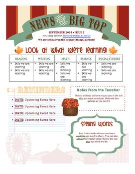Classroom Newsletter Templates