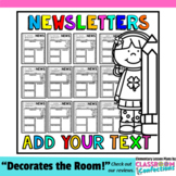 Classroom Newsletter Templates: Editable Newsletters