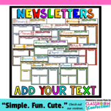 Monthly Newsletter Templates: Editable Newsletters