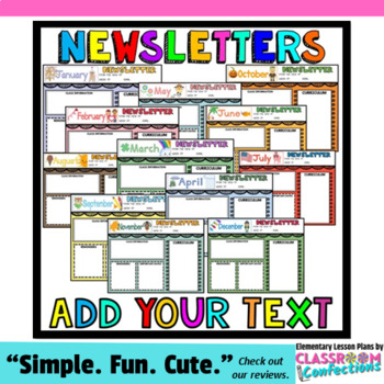 monthly newsletter templates editable newsletters by elementary