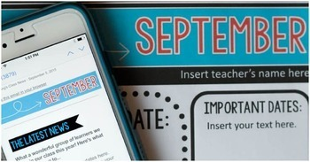 Newsletter Templates for the Classroom: Bright and Clear