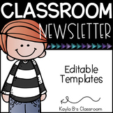 Classroom Newsletter Templates: Editable