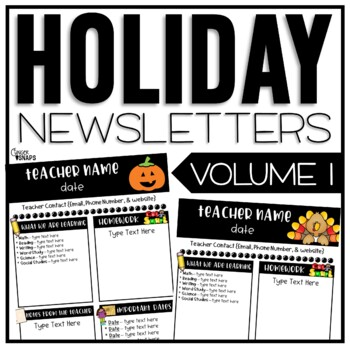 Classroom Newsletter Templates - Free By Ginger Snaps | Tpt