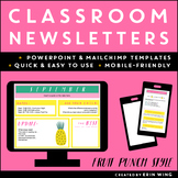 Classroom Newsletter Templates: Fruit Punch Style