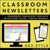 Classroom Newsletter Templates: Geometric Style