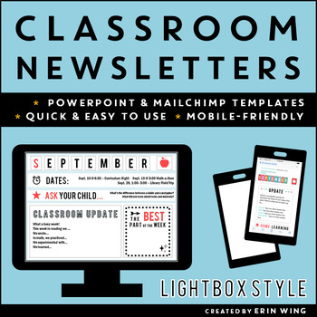 Classroom Newsletter Templates: Lightbox Marquee Style