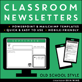 Classroom Newsletter Templates: Old School Style