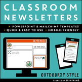 Classroom Newsletter Templates: Outdoorsy Style