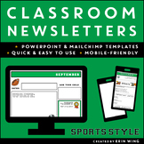 Classroom Newsletter Templates: Sports Style