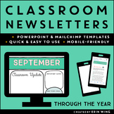 Monthly Classroom Newsletters: Editable Templates | Distan