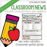 Classroom Newsletter - Tribal Theme