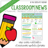 Classroom Newsletter - Tropical Theme