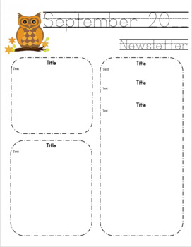 Classroom Newsletter and Calendar Collection