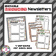 *Editable* Classroom Newsletters