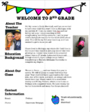 Classroom Welcome Letters