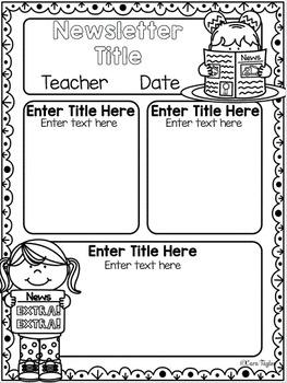 Classroom Newsletters ~ 50 Editable Designs!
