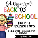 Classroom Newsletters-EDITABLE