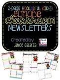 Classroom Newsletters Editable {Colorful Kids}