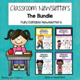 Classroom Newsletters-Fully Editable- Mega Bundle