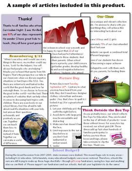Classroom Newsletters Sneak Peek
