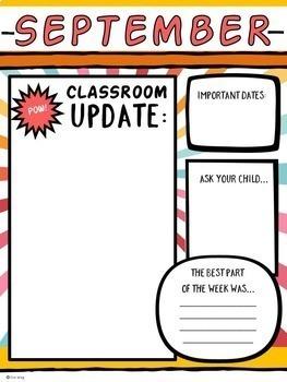 Classroom Newsletters Super Hero Style: Editable Templates