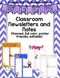 Classroom Newsletters and Notes