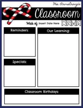 Classroom Newsletters for Google Slides - Digital Paperless