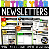 Back to School Digital Newsletter Templates   Distance Learning Newsletters