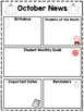 Classroom Newsletters for the Entire Year- Editable and Printer Friendly