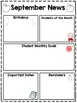 Classroom Newsletters for the Entire Year- Editable and Pr